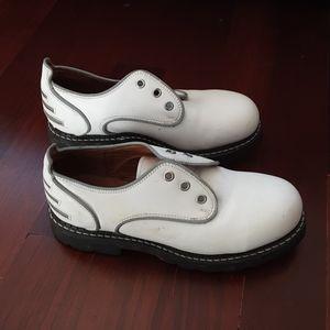 John fluevog safety vog steel toe shoes size 6